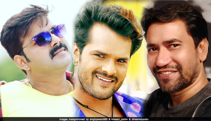 Pawan singh With Khesari lal yadav and Dinesh lal yadav Movie
