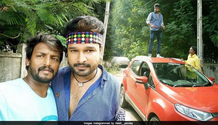Ritesh pandey shoot on kisme kitna hain dum