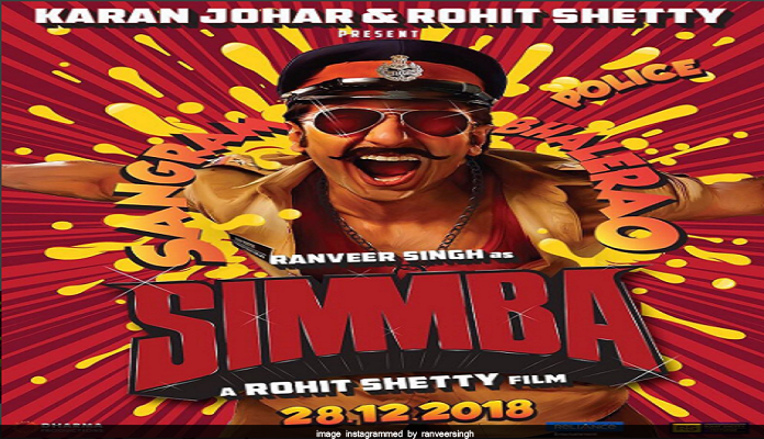 ranveer singh new movie simmba poster