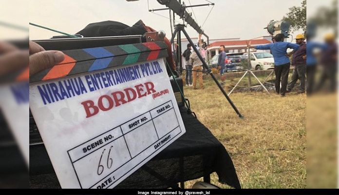 Bhojpuri movie border shooting stills