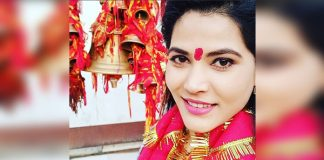 Seema Singh is very happy, on the occasion of Navratri ...