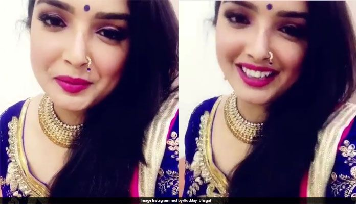 Amrapali Dubey's Video Appeals to Watch Viral, Nachania