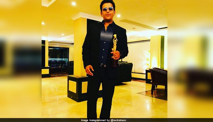 Ravi Kishan received Best Actor Award at the International Film Festival