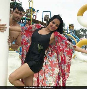 Monalisa in Vikrant Singh's holiday abroad